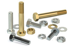 Bolts, nuts and washers Royalty Free Stock Images