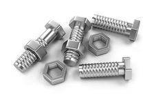 Bolts and nuts Royalty Free Stock Photos