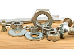 Bolts and nuts Stock Images