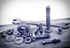 Bolts and nuts Stock Image