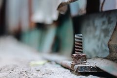 Bolts old screw nut Wallpepers Royalty Free Stock Image