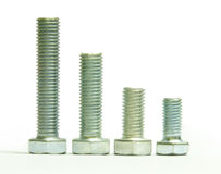 The bolts in a row Stock Photography