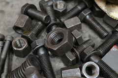 Bolts and screw Stock Photography