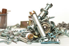 Bolts, screws. A set for the mechanic Royalty Free Stock Photography