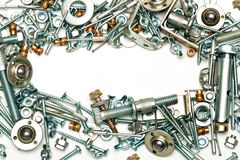 Bolts, screws. A set for the mechanic Royalty Free Stock Photos