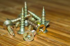 Bolts and screws Royalty Free Stock Photos