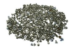 Bolts and Screws Closeup. Many Bolts and Screws Closeup Stock Image