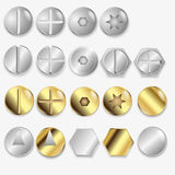 Bolts And Screws, Isolated Stock Images