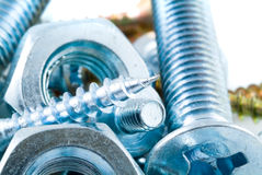 Bolts, screws, nuts Royalty Free Stock Photo