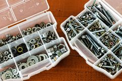 Bolts and screws. Royalty Free Stock Images