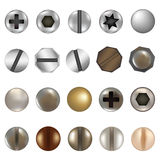 Bolts And Screws. Vector. Bolts And Screws, Isolated On White Background, Vector Illustration Stock Photography