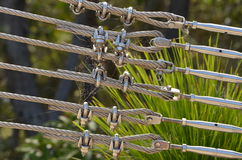 Bolts on Steel wire Royalty Free Stock Image