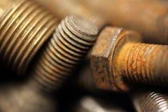 Bolts. Still life of rusty bolts Stock Photos
