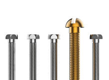 Bolts  on white background. 3d render Royalty Free Stock Photo