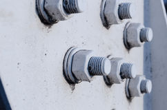Bolts  on white Stock Photo