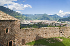 Bolzano behind the wall Royalty Free Stock Images