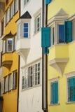 Bolzano Bozen Italy. Colourful apartment blocks in Bolzano Bozen, Italy stock photo