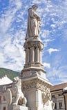 Bolzano / Bozen, Italy. Walther Square in Bolzano / Bozen, Italy, monument of Walther von der Vogelweide stock photography