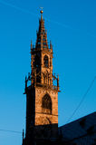 Bolzano / Bozen : Piazza Walther. The bell tower of the cathedral in Bolzano / Bozen (Italy Stock Image