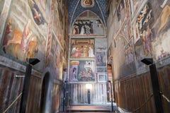 Bolzano-Bozen, South Tyrol, Italy. The frescoes of the Chapel of St. John in the Chiesa dei Domenicani, a Dominican church in Bolzano-Bozen, South Tyrol, Italy royalty free stock image