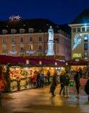 Bolzano Christmas market in the evening. Trentino Alto Adige, Italy. stock photos