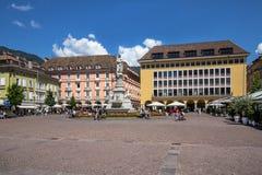 Bolzano City Square, Italy Stock Images
