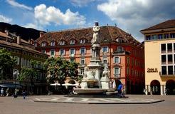 Bolzano, Italy: Piazza Valther Von Derbogelweide Royalty Free Stock Photos