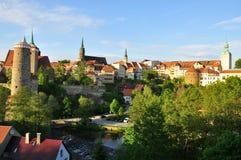 Bolzano - la Sassonia, Germania - dal tramonto Fotografia Stock Libera da Diritti