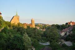 Bolzano - la Sassonia, Germania - dal tramonto Immagini Stock