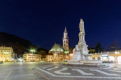 Bolzano - Piazza Walther Von Der Vogelweide. The beautiful and most important square of Bolzano Bozen Stock Image