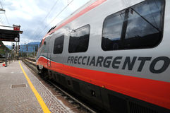 Bolzano  railway station. Bolzano railway station  railway station and High speed lines and trains - Trenitalia Stock Photos