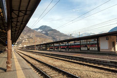 Bolzano railway station Royalty Free Stock Photos