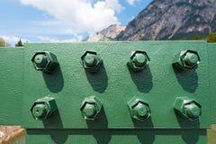 Bolzen einer Brücke Stockfotos