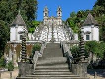 Bom耶稣在拉格,葡萄牙做Monte 库存图片