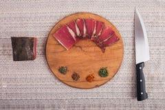 Bom alimento apresentado na tabela Fotos de Stock Royalty Free