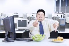 Bom alimento e alimento mau Foto de Stock
