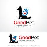 Bom animal de estimação Logo Template Design Vetora ilustração do vetor
