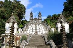 bom braga gör jesus monte nära den portugal santuarioen Royaltyfri Foto