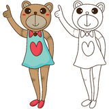 Bom colorir do urso Imagem de Stock Royalty Free