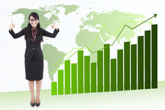 Bom crescimento do negócio global Imagens de Stock Royalty Free