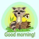 Bom dia! ilustração royalty free