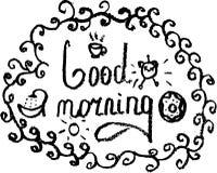 Bom dia do esboço Ilustração Royalty Free
