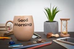 Bom dia Negócio e um fundo do sucesso Foto de Stock