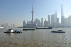 Bom dia Shanghai fotos de stock royalty free