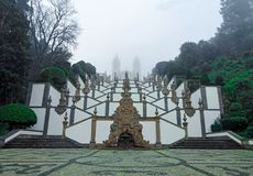 BOM Gesù, Braga, nebbia fotografie stock