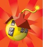 Bom gevormd huis Royalty-vrije Stock Afbeelding