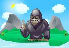 Bom gorila do silverback Imagens de Stock