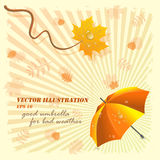 Bom guarda-chuva para o mau tempo, ilustração do vetor Imagens de Stock Royalty Free