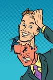 Bom homem da máscara má do homem ilustração royalty free