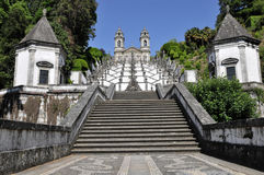 Bom jesus, church build in baroque style. Royalty Free Stock Photography